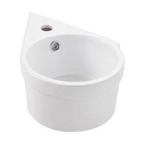 Sanitop AquaSu Waschtisch Reflex 39 cm, Ausführung rechts, weiß