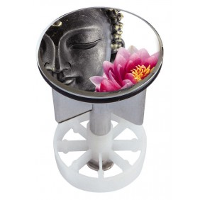 Sanitop Excenterstopfen Metall 38 - 40 mm Design Buddha