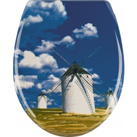 Sanitop Sitzplatz WC-Sitz Windmühle mit Soft-Schließ-Komfort