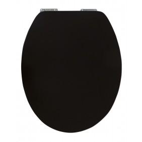 Sanitop Sitzplatz WC-Sitz High-Gloss Pure Black mit Soft-Schließ-Komfort und Fast Fix