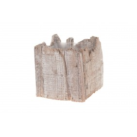 DIJK Pflanztopf aus Holz, 12 x 12 x 12 cm