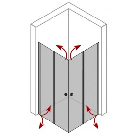 Breuer ELANA KOMFORT SPEZIAL Drehfalt-Diagonaleinstieg 4-teilig
