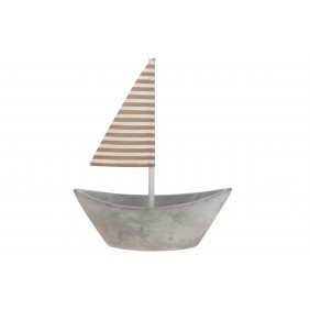 DIJK Boot aus Beton, 10,5 x 4 cm