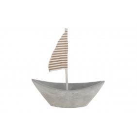 DIJK Boot aus Beton, 15,5 x 6 cm