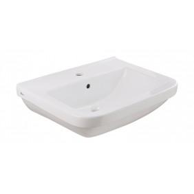 Sanitop AquaSu Waschtisch Quadra 58 cm, weiß mit Clean-Glasur
