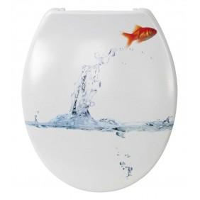 Sanitop Sitzplatz WC-Sitz Dekor Goldfisch mit Soft-Schließ-Komfort