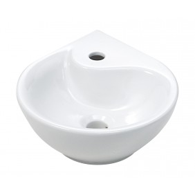 Sanitop AquaSu Eck-Waschtisch Dropino 35 cm, weiß
