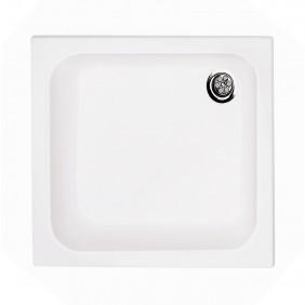 Acryl-Duschwannenset 80 x 80 x 65 cm weiß