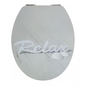 Sanitop Sitzplatz WC-Sitz High-Gloss Dekor Relax mit Soft-Schließ-Komfort und Fast Fix