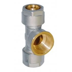 Sanitop Wiroflex WIROFLEX T-Stück 16 x 1/2 IG x 16 mm Komplettlösung incl. Adapter, Schraubsystem