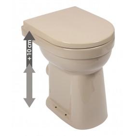 Sanitop AquaSu erhöhtes Stand-WC +10 cm Abgang waagerecht mit WC-Sitz; beige