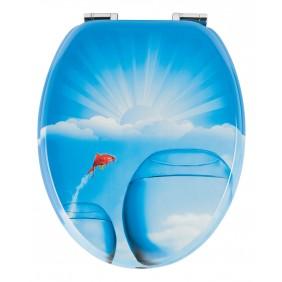 Sanitop Sitzplatz WC-Sitz Dekor Goldfischglas mit Soft-Schließ-Komfort