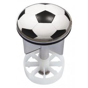 Sanitop Excenterstopfen Metall 38 - 40 mm Design Fußball