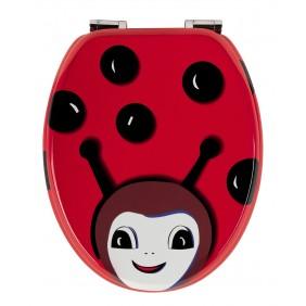 Sanitop Sitzplatz WC-Sitz Dekor Beetle mit Soft-Schließ-Komfort und Fast Fix
