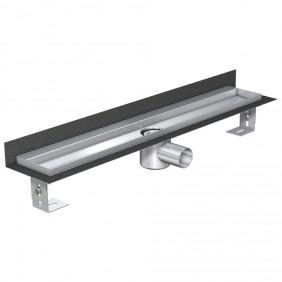 ACO ShowerDrain E-line Duschrinne h=105-160 mm - Aufkantung hinten