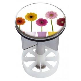 Sanitop Excenterstopfen Metall 38 - 40 mm Design Bunte Blumen