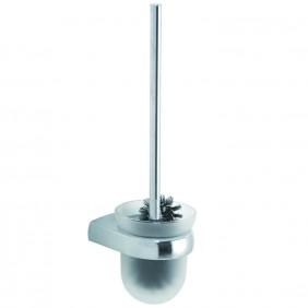 Bravat Toilettenbürstengarnitur Metasoft - Glas, mit Spülrandreiniger