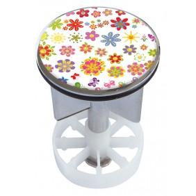Sanitop Excenterstopfen Metall 38 - 40 mm Design Sommerblüten