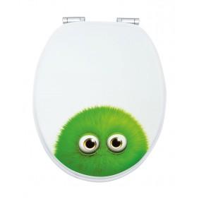 Sanitop Sitzplatz WC-Sitz Dekor Monster Bobby mit Soft-Schließ-Komfort und Fast Fix
