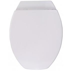 Sanitop Sitzplatz WC-Sitz Rimini II mit Rückbrett , weiß