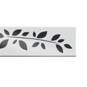ACO ShowerDrain E-line Design Glas Abdeckung weiß mit Motiv