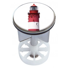 Sanitop Excenterstopfen Metall 38 - 40 mm Design Leuchtturm