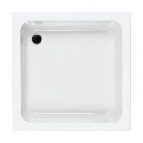 AquaSu Acryl-Brausewanne Sono 90 x 90 x 15 cm weiß