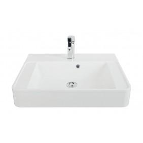 Sanitop AquaSu Aufsatz-Waschtisch CuOra 60 cm Mineralguss, weiß