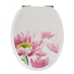Sanitop Sitzplatz WC-Sitz Dekor Blütenzauber mit Soft-Schließ-Komfort und Fast Fix
