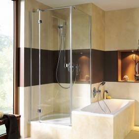 Breuer ESPIRA Badewannenseitenwand für Drehtür