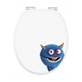 Sanitop Sitzplatz WC-Sitz Dekor Monster Ecky mit Soft-Schließ-Komfort und Fast Fix