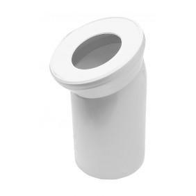 Sanitop Anschlussbogen für Stand-WC 22°, weiß