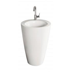 Sanitop AquaSu Säulen-Waschplatz litO Mineralguss, weiß