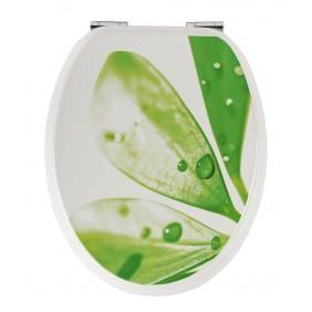 Sanitop Sitzplatz WC-Sitz Dekor Lotusbluete mit Soft-Schließ-Komfort
