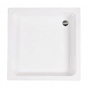AquaSu Acryl-Brausewanne Sono 80 x 80 x 15 cm weiß
