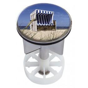 Sanitop Excenterstopfen Metall 38 - 40 mm Design Strandkorb