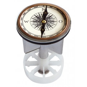Sanitop Excenterstopfen Metall 38 - 40 mm Design Kompass