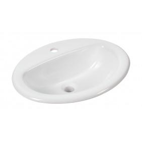 Sanitop AquaSu Einbau- Waschtisch aVondo 51,6 cm, weiß