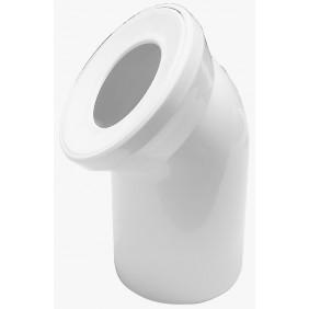 Sanitop Anschlussbogen für Stand-WC 45°, weiß