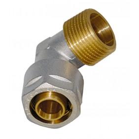 Sanitop Wiroflex WIROFLEX Winkel 20 x 3/4 AG Komplettlösung incl. Adapter, Schraubsystem