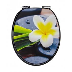 Sanitop Sitzplatz WC-Sitz Dekor Spa Flower mit Soft-Schließ-Komfort und Fast Fix