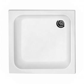 Acryl-Duschwannenset 90 x 90 x 65 cm weiß
