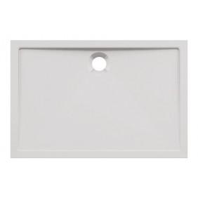 AquaSu Acryl-Brausewanne Teso 120 x 80 x 2,5 cm weiß