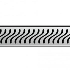 ACO ShowerDrain E-line Design Rost Flag