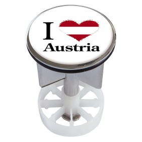 Sanitop Excenterstopfen Metall 38 - 40 mm Design I Love Austria