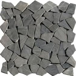 Naturstein Bruchmosaik 8 mm Dunkel Grau