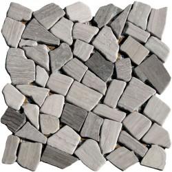 Naturstein Bruchmosaik 8 mm Grau Holzoptik