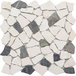 Naturstein Bruchmosaik 8 mm Grau Beige Mix