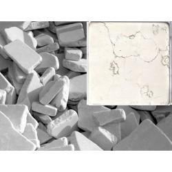 Antik Marmor Bruchmosaik 5-8 cm Biancone lose im Sack 1cm