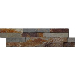 Naturstein Mauerverblender Schiefer Multicolor Slate